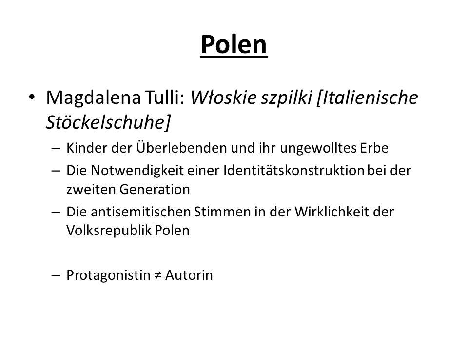 Polen Magdalena Tulli: Włoskie szpilki [Italienische Stöckelschuhe]
